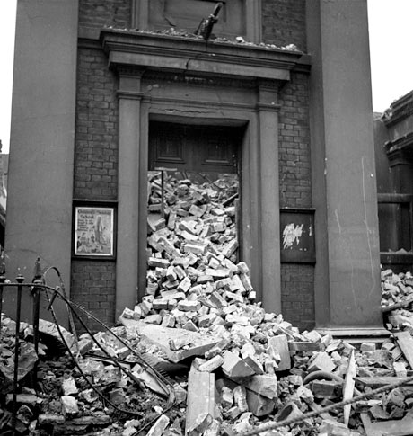 A bombed chapel, 1940